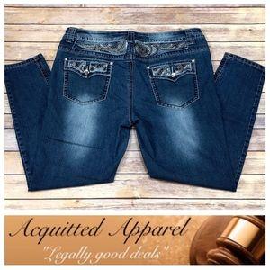 Wax Jeans | Blingy Plus Size Rhinestone Skinny